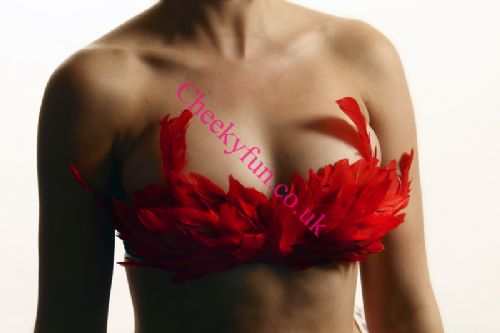 Feather Bra - Red
